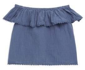 Ralph Lauren Toddler's, Little Girl's& Girl's Off-The-Shoulder Top