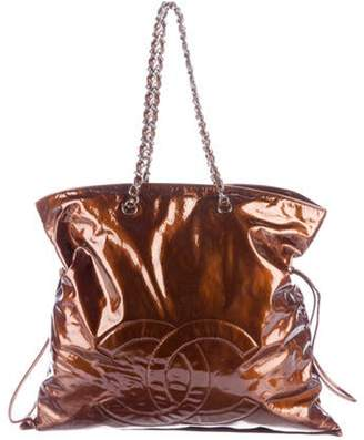 Chanel Patent Leather Bon Bon Tote silver Patent Leather Bon Bon Tote
