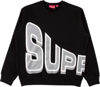 Supreme Side Arc Crewneck - 'SS 18' - Black
