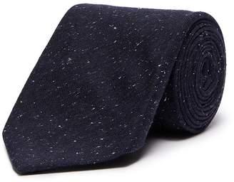 Isaia Silk-wool Donegal tweed tie