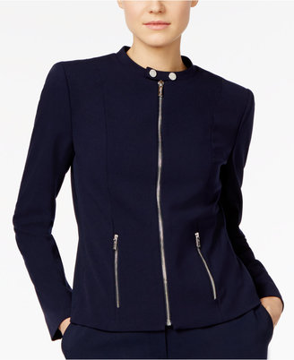 Calvin Klein Moto Jacket $129.50 thestylecure.com
