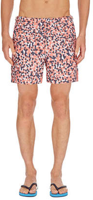 Orlebar Brown Men's Bulldog Ninfea Graphic Swim Trunks
