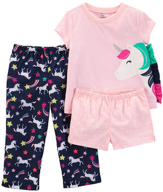 Carter's 3-pc. Pajama Set - Toddler Girls