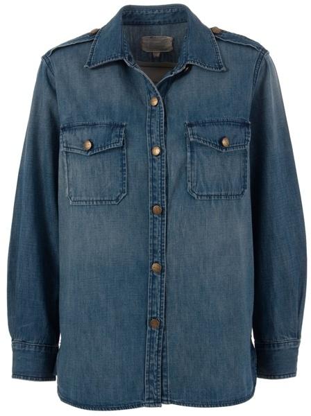 CURRENT ELLIOTT - Light-weight denim shirt
