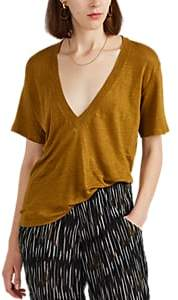IRO Women's Jahal Linen T-Shirt - Yellow Size Xs