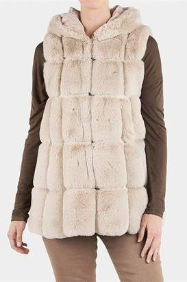 The Good Bead Hooded Faux Fur Vest