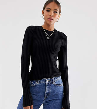 Asos Tall DESIGN Tall crew neck sweater in skinny rib