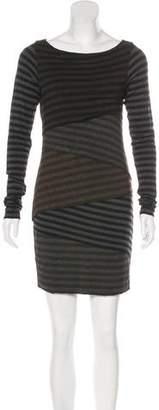 Bailey 44 Ruffled Striped Dress