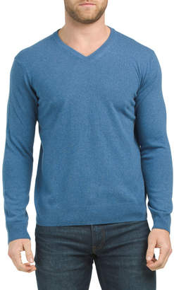 Made In Italy Cashmere V-neck Sweater
