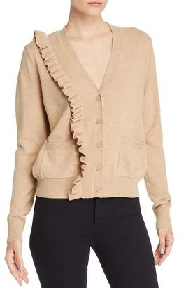 Sandro Cameen Ruffled Wool & Cashmere Cardigan - 100% Exclusive