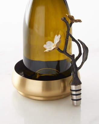 Michael Aram Dogwood Wine Coaster & Bottle Stopper