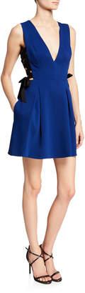 BCBGMAXAZRIA Fit-and-Flare Sleeveless Dress