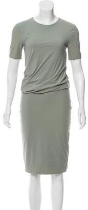 Alexander Wang Short Sleeve Midi Dress