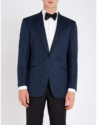 Richard James Hyde geometric regular-fit silk tuxedo jacket
