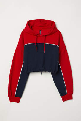 H&M Short Hooded Sweatshirt - Red