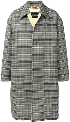 Raf Simons oversized tartan coat