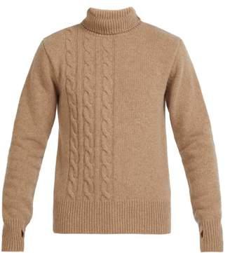 Oliver Spencer Talbot Roll Neck Wool Sweater - Mens - Beige