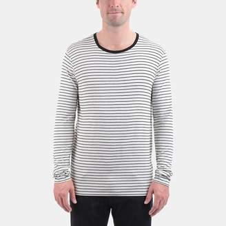 ATM Anthony Thomas Melillo Long Sleeve Striped Viscose Tee