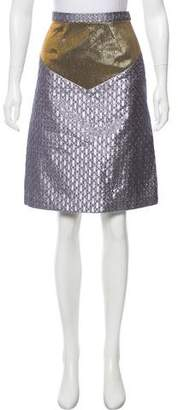 Rodarte Brocade Knee-Length Skirt