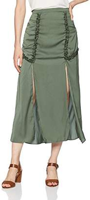 The Fifth Label Women's Sonic Maxi Skirt with Slits and Ruffle Detail