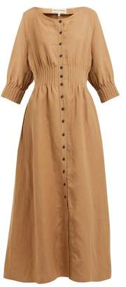 Mara Hoffman Amia Pintucked Canvas Dress - Womens - Beige