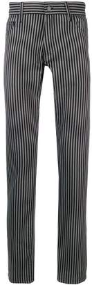Ann Demeulemeester striped slim fit trousers