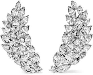 Kenneth Jay Lane Silver-tone Crystal Clip Earrings - one size