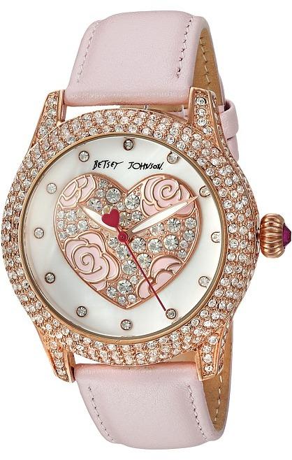 Betsey JohnsonBetsey Johnson - BJ00019-75 - Crystal Bezel Face Watches