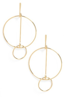 Women's Cara Geometric Drop Earrings $22 thestylecure.com