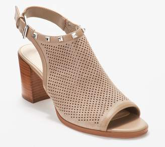 9b86123efec Marc Fisher Suede Perforated Heeled Sandals- Parso