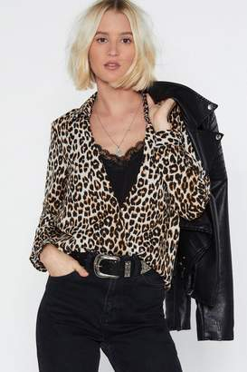 Nasty Gal Give Me a Meow-ment Leopard Blouse