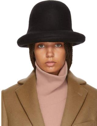 Acne Studios Black Wool Bowler Hat