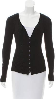 Dolce & Gabbana Virgin Wool Rib Knit Cardigan