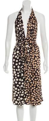 Issa Silk Polka Dot Dress Brown Silk Polka Dot Dress