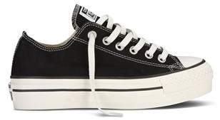 Converse Ct All Star Platform Lo Black Shoe