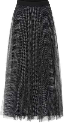 Christopher Kane Metallic tulle midi skirt