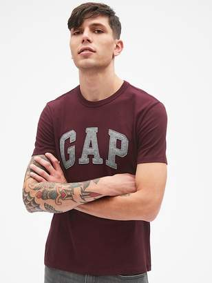 Gap Textured Logo Short Sleeve Crewneck T-Shirt