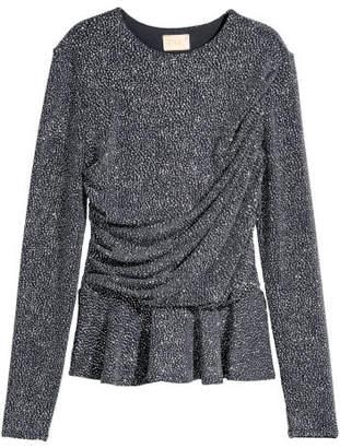 H&M Glittery Top - Silver