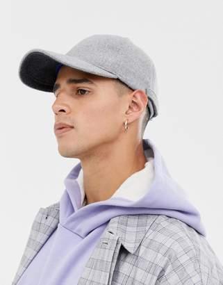 Asos wool cap in gray
