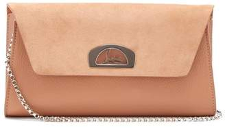 Christian Louboutin Vero Dodat Leather And Suede Clutch - Womens - Nude