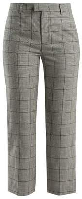 RED Valentino Checked Wool Trousers - Womens - Grey