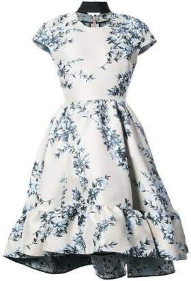 Fendi short-sleeve floral dress