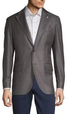 Lubiam Mini Check Wool Sportcoat