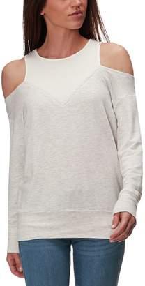 Monrow Off Shoulder Double Layer Sweatshirt - Women's