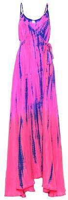 Anna Kosturova Tie-dye silk maxi dress