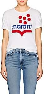 Etoile Isabel Marant Women's Koldia Flocked Linen T-Shirt-White