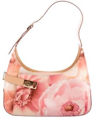 Salvatore Ferragamo Floral Gancini Shoulder Bag