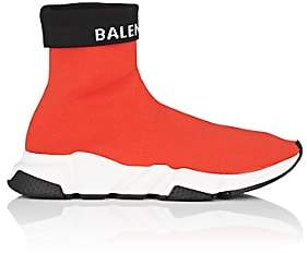 Balenciaga Men's Speed Knit Sneakers-Red