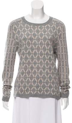 Allude Printed Lightweight Sweater