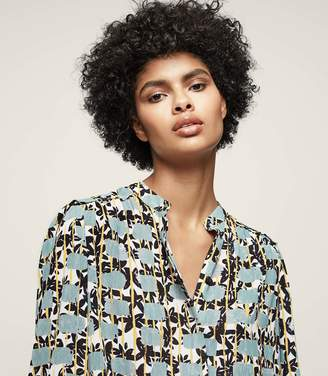 Reiss ORDER BY MIDNIGHT DEC 15TH FOR CHRISTMAS DELIVERY KARINA PRINTED COLLARLESS SHIRT Multi